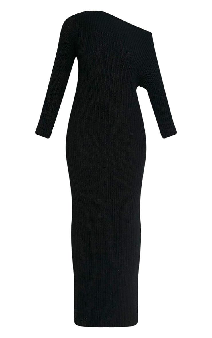 Adalynn robe pull maxi à épaules dénudées noire 3