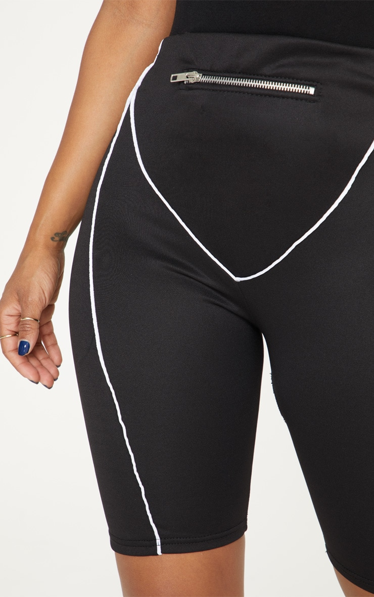 Shape - Short-legging noir à détail zip 6