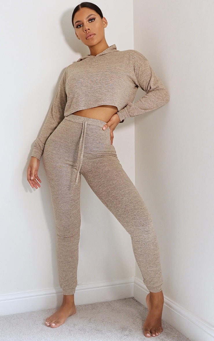 Stone Hooded Knitted Lounge Set 3