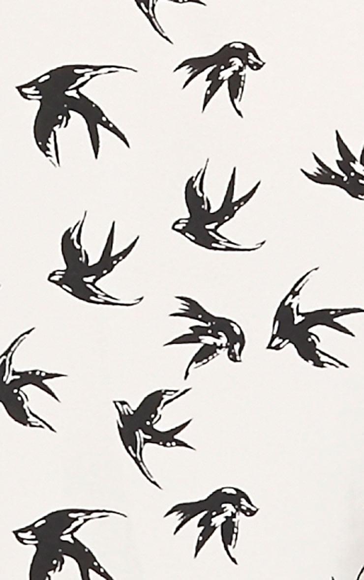 Olivia Cream Bird Print Swing Cami 3