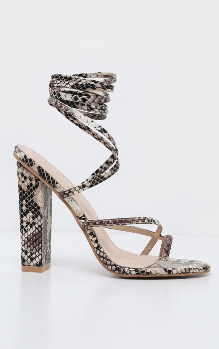 Snake Toe Loop Heeled Sandal 4