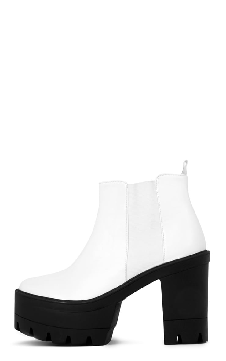 Coco Monochrome Leather Chunky Chelsea Boot  1