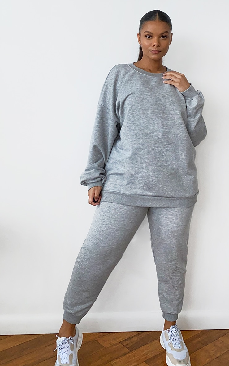 Plus Grey Marl Ultimate Oversized Sweater 3