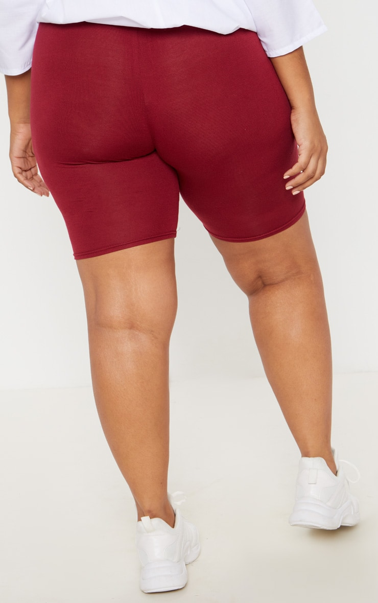 Plus Burgundy Basic Cycle Shorts 4