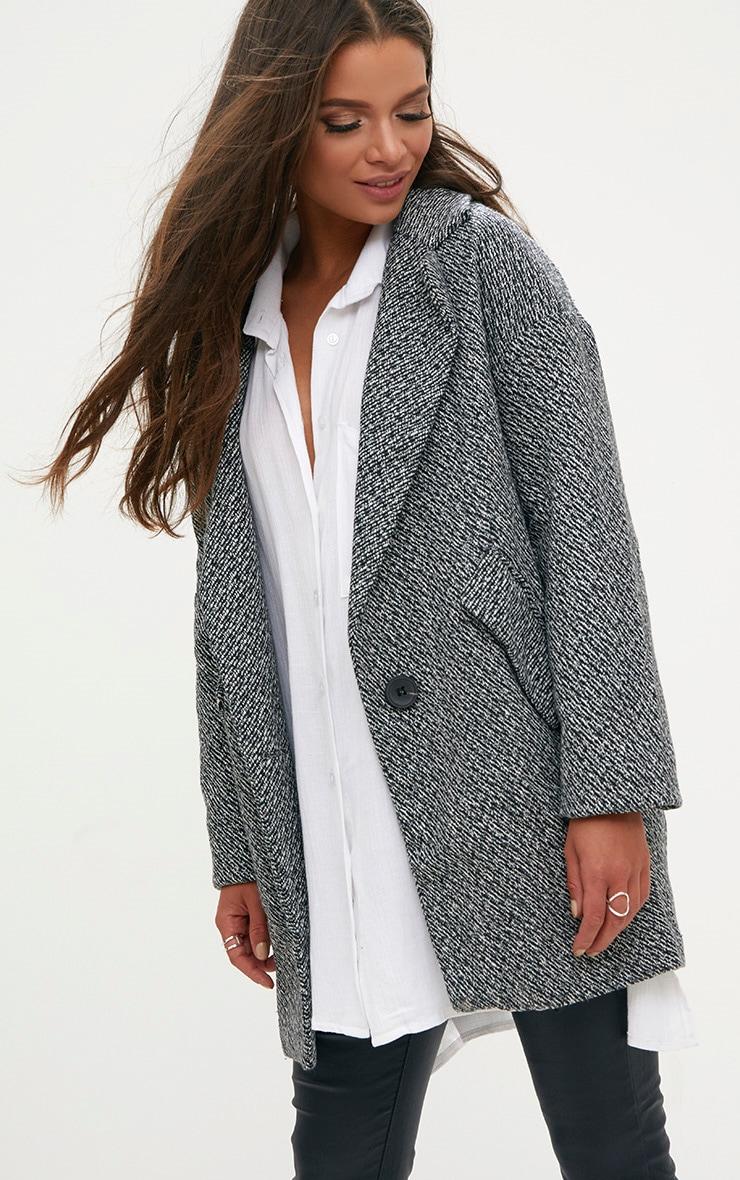 Grey Harringbone Coat 1