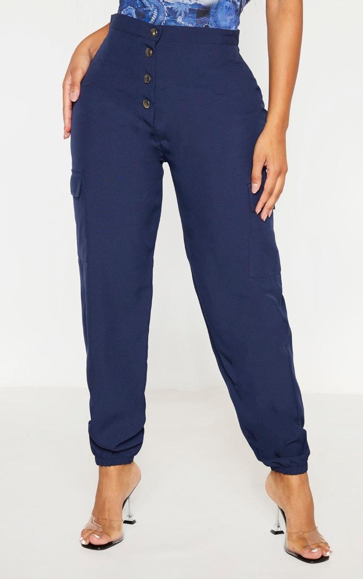 Shape Navy Pocket Detail Cargo Pants 2