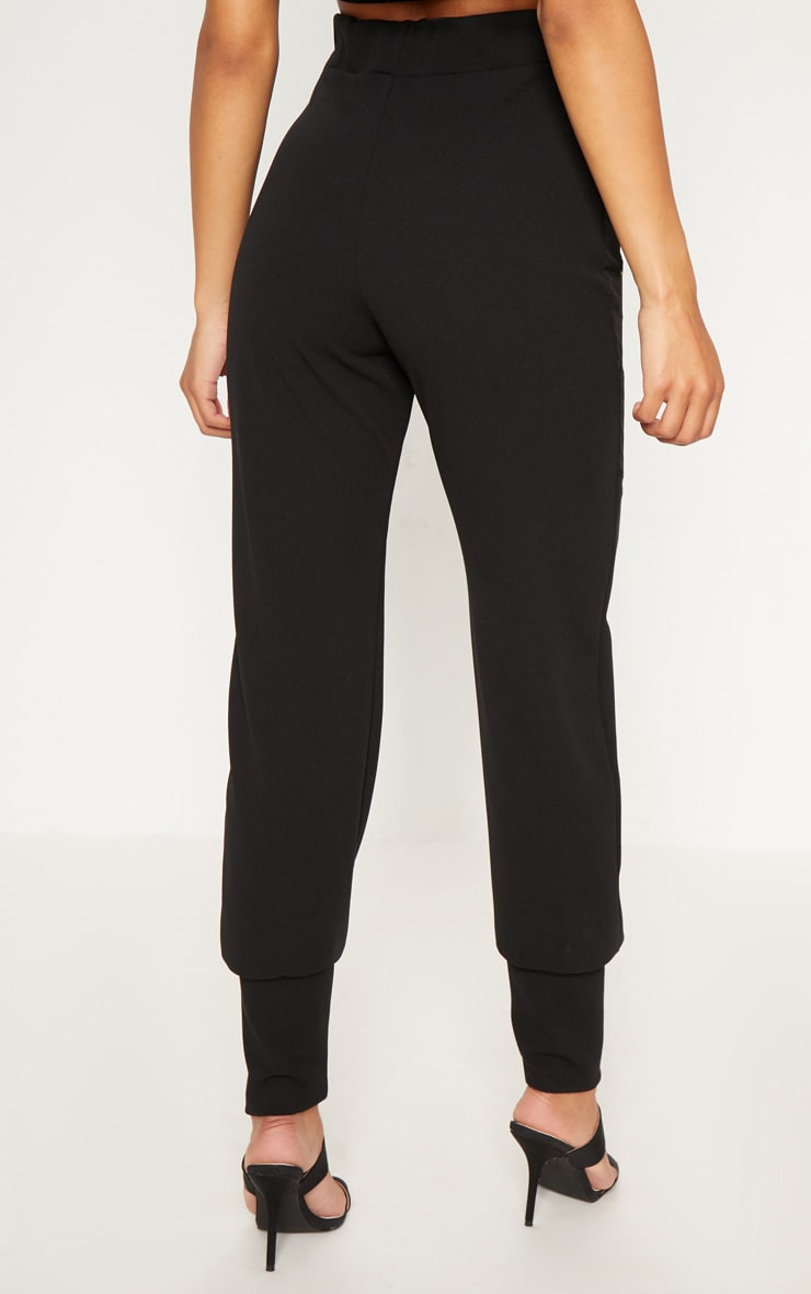 Black Deep Cuff Detail Trouser 4