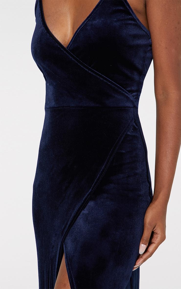 Blue Strappy Wrap Detail Maxi Dress 5