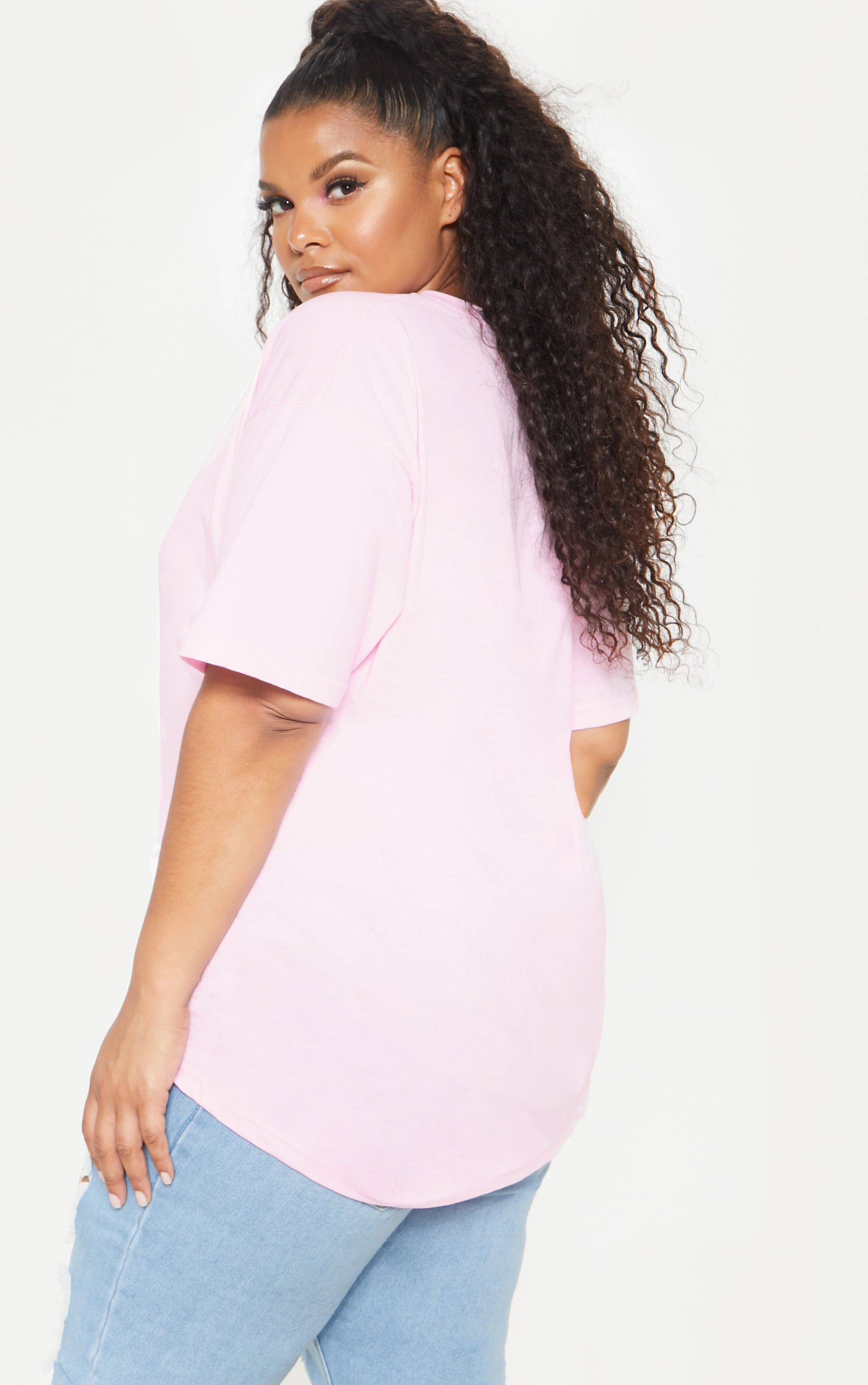 Plus Pink EQUAL Oversized T-shirt  2