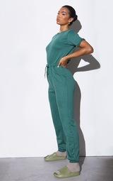 RENEW Green Short Sleeve Sweat Jumpsuit 3