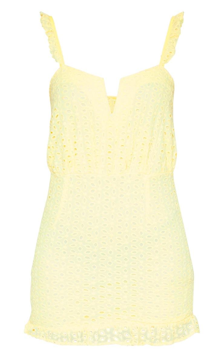 Petite Lemon Lace Frill Hem Bodycon Dress 3
