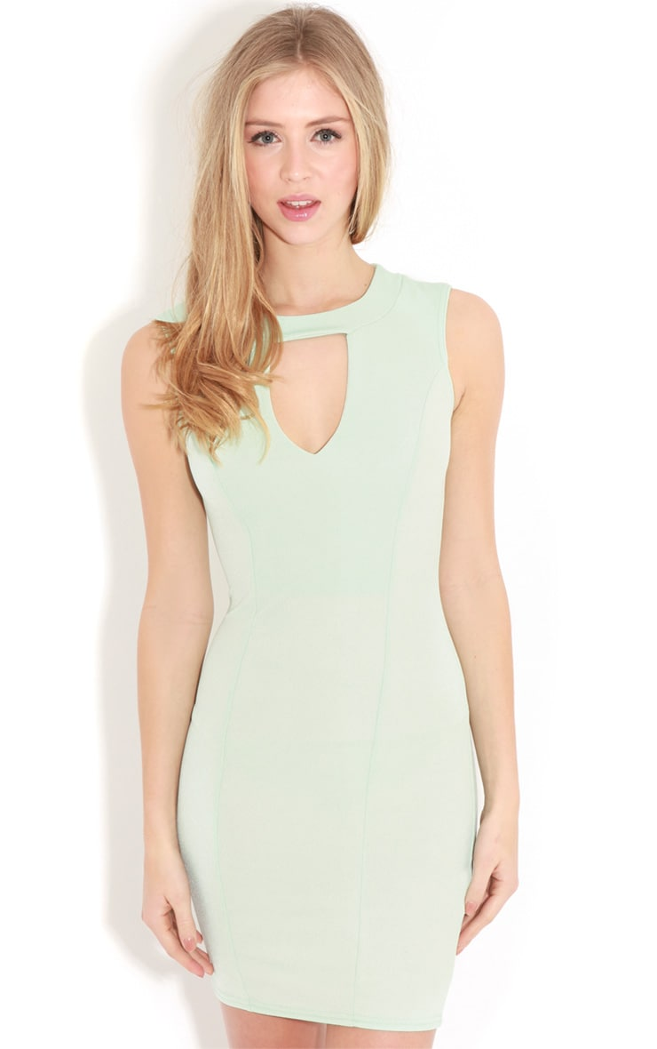 Henrietta Mint Tailored Chiffon Dress 5