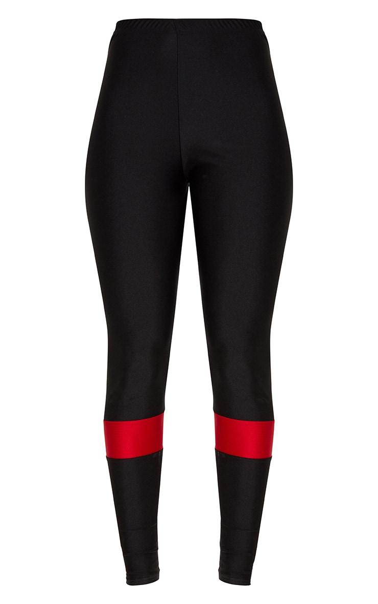 Black Sport Stripe Disco Leggings 3