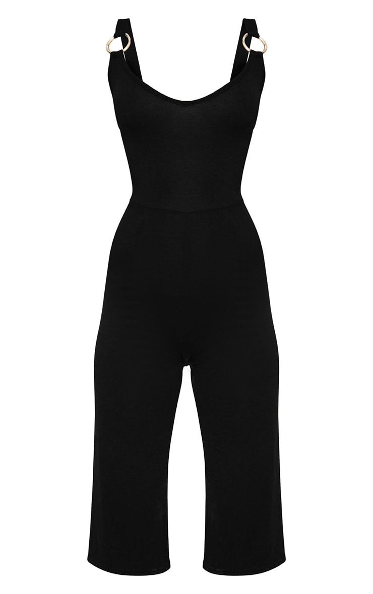 Petite Black O-Ring Culotte Jumpsuit 3