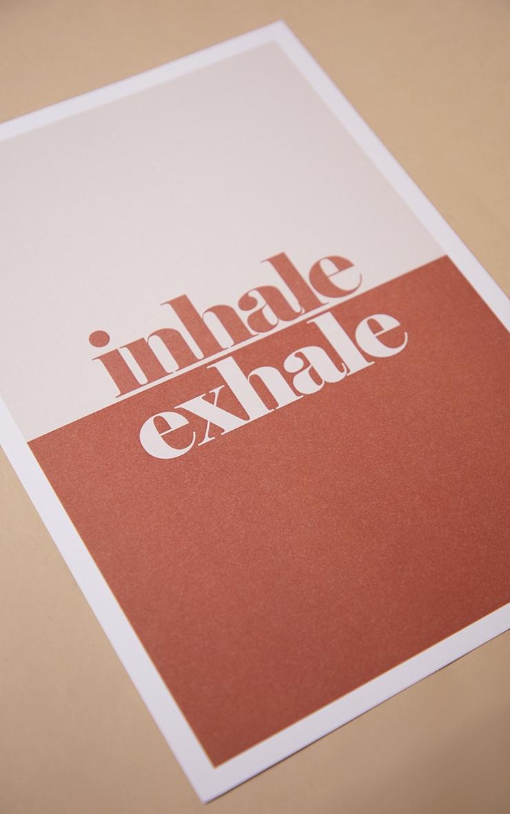 Exhale A4 Recycled Peechy Print 4