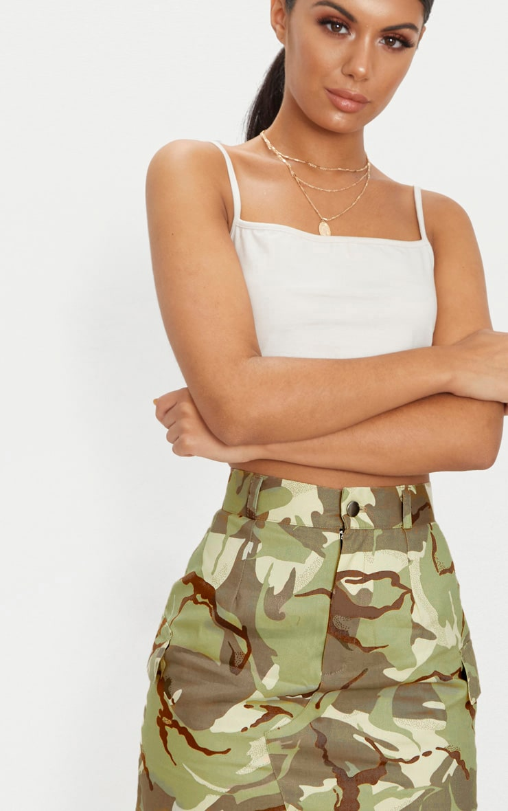 Khaki Camo Cargo Mini Skirt 6