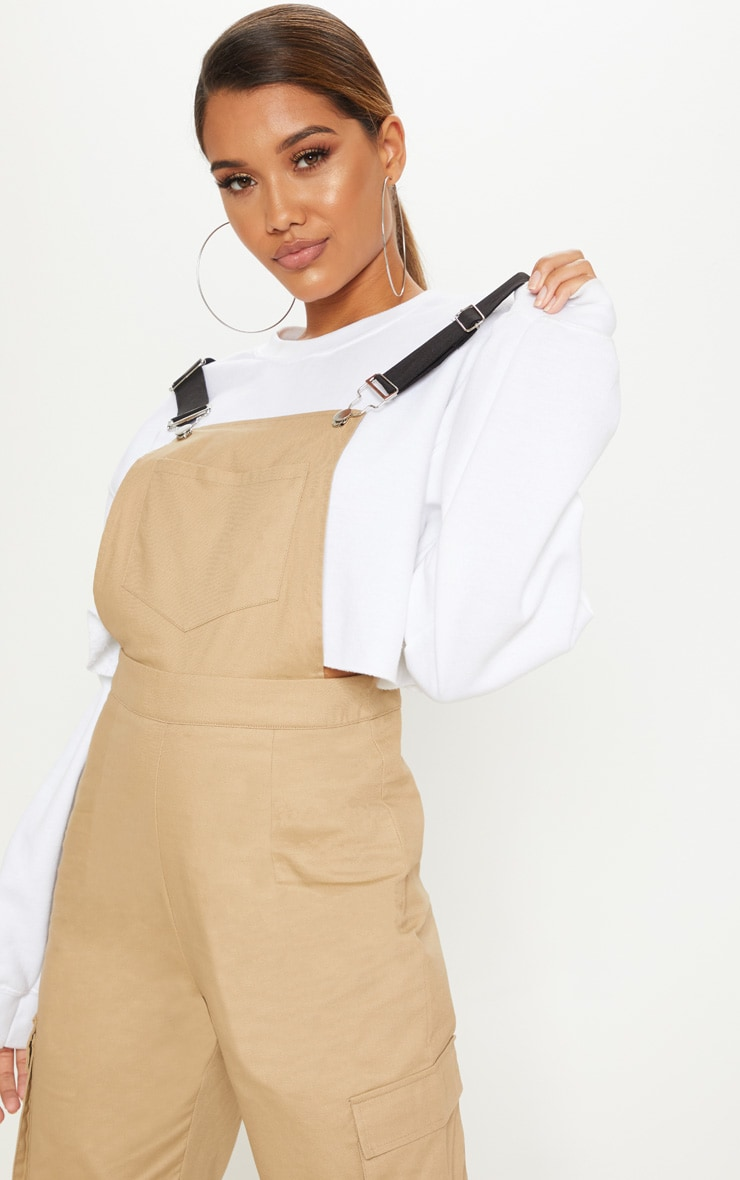 Camel Contrast Detail Dungarees 4