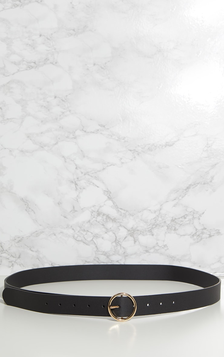 Plus Black Circle Detail Faux Leather Belt 3