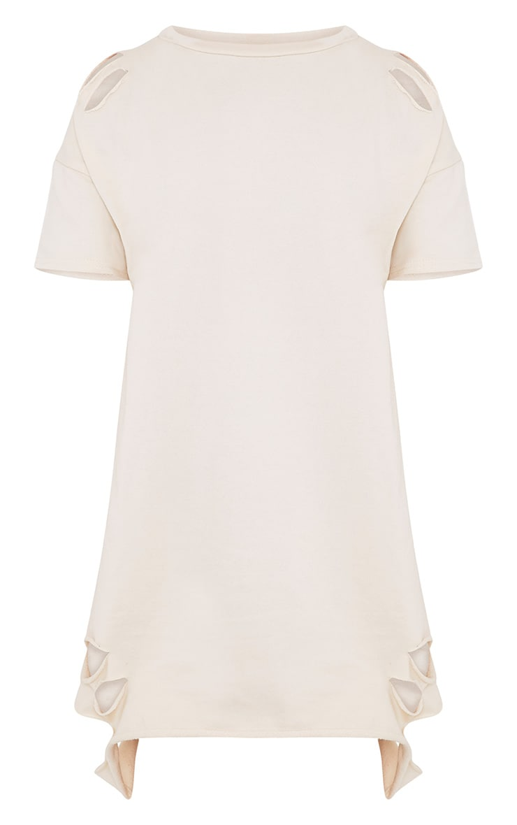 Orla Stone Distressed Short Sleeve Sweater Dress 3