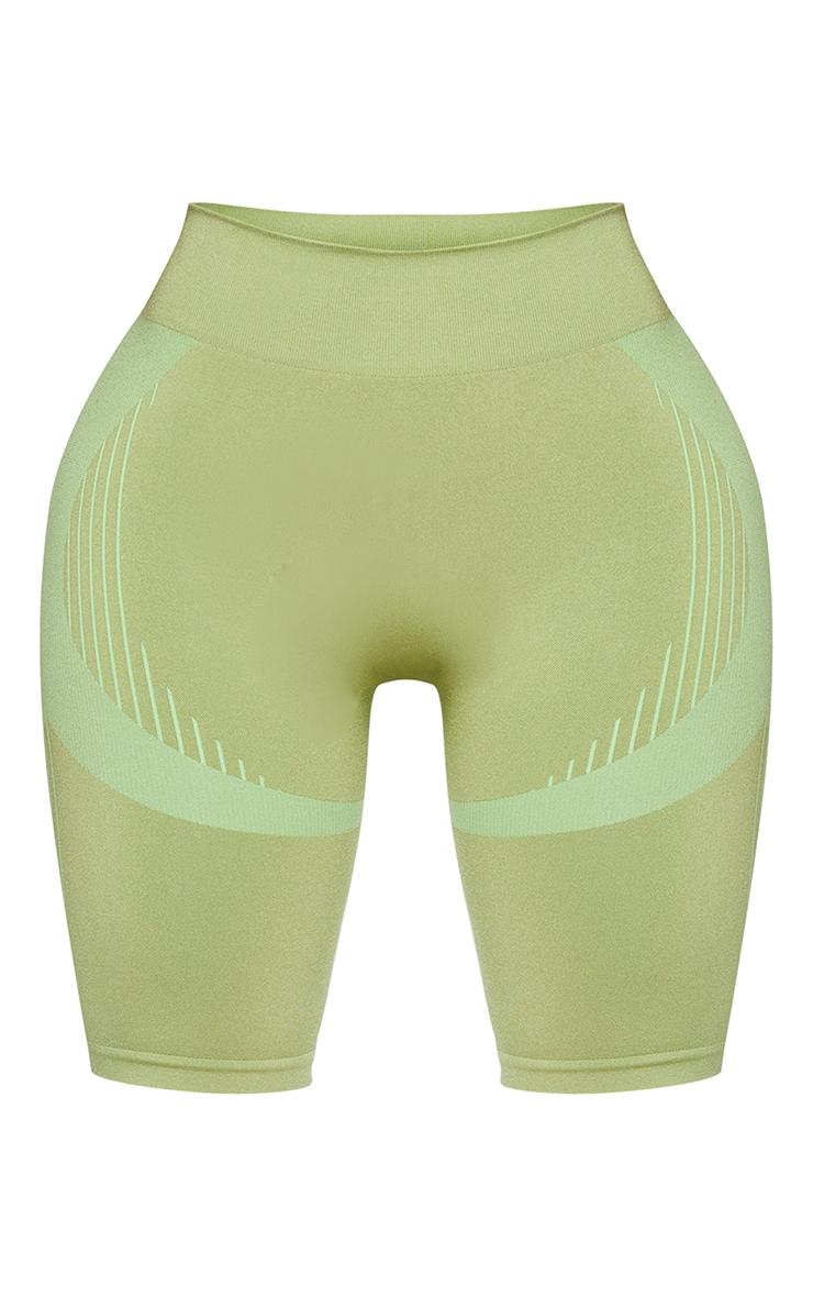 Shape Khaki Seamless Cycling Shorts 5
