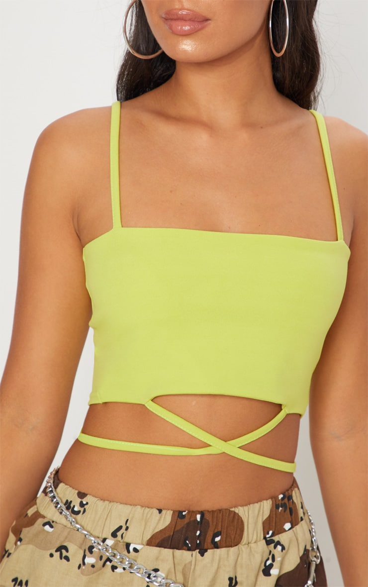 Lime Strap Crop Top 5