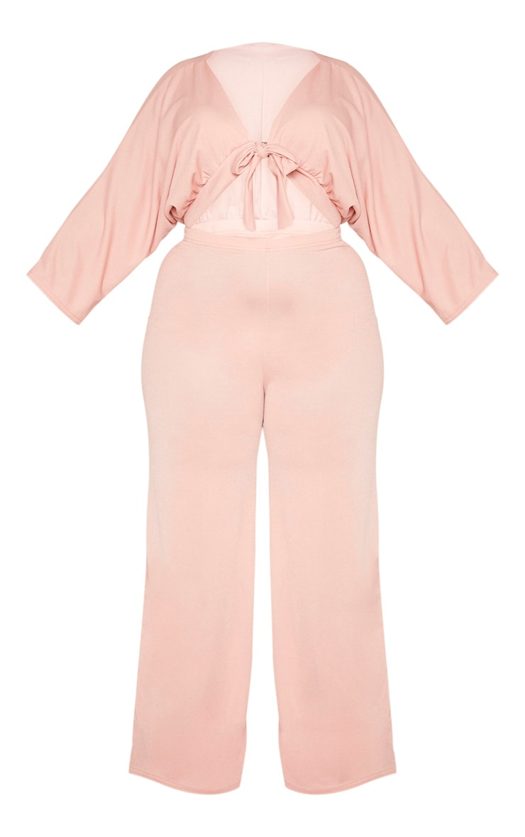 Plus Mauve Crepe Batwing Cut Out Jumpsuit 3