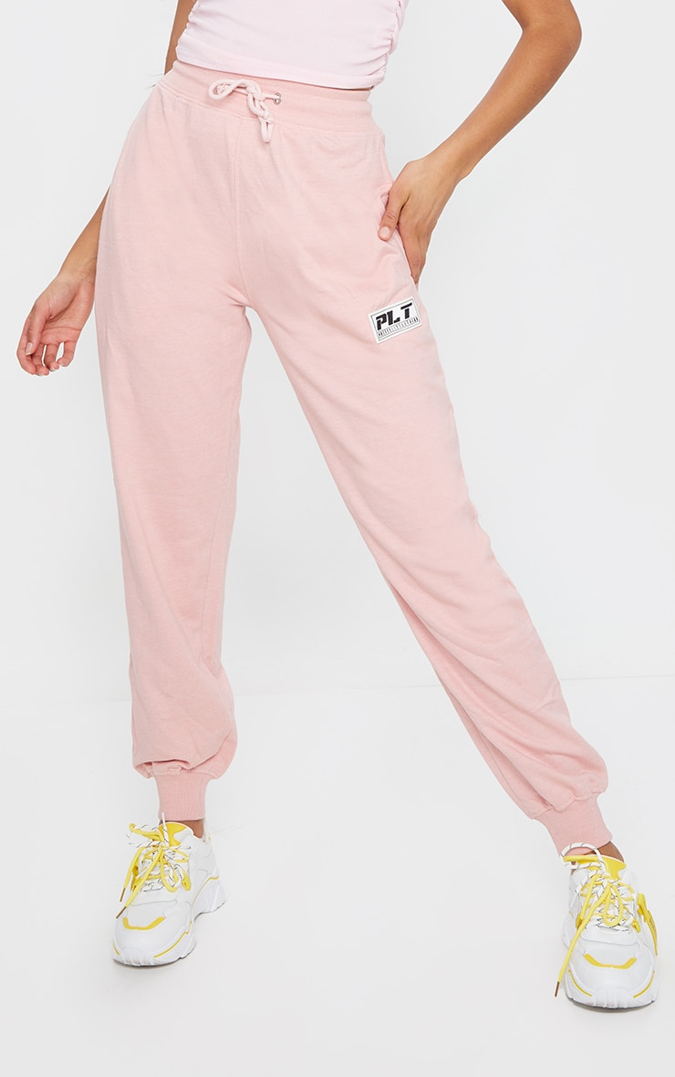 PRETTYLITTLETHING Pink Badge Casual Joggers 2