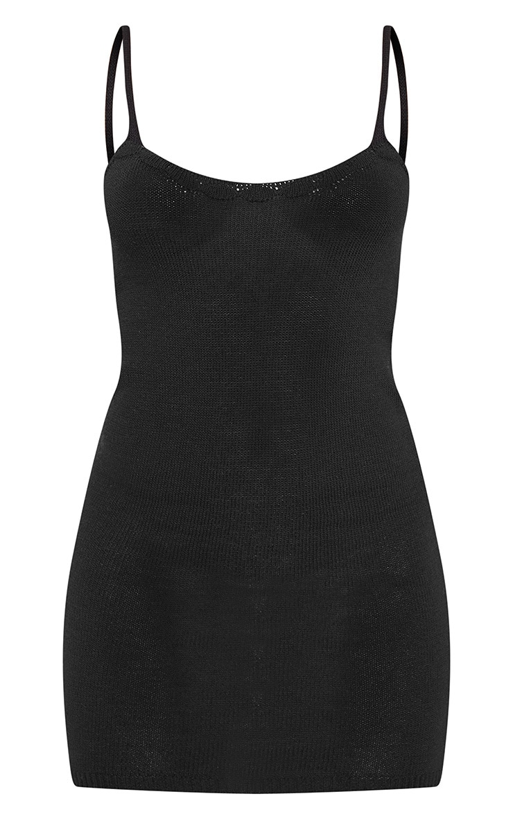 Black Knitted Strappy Dress 3
