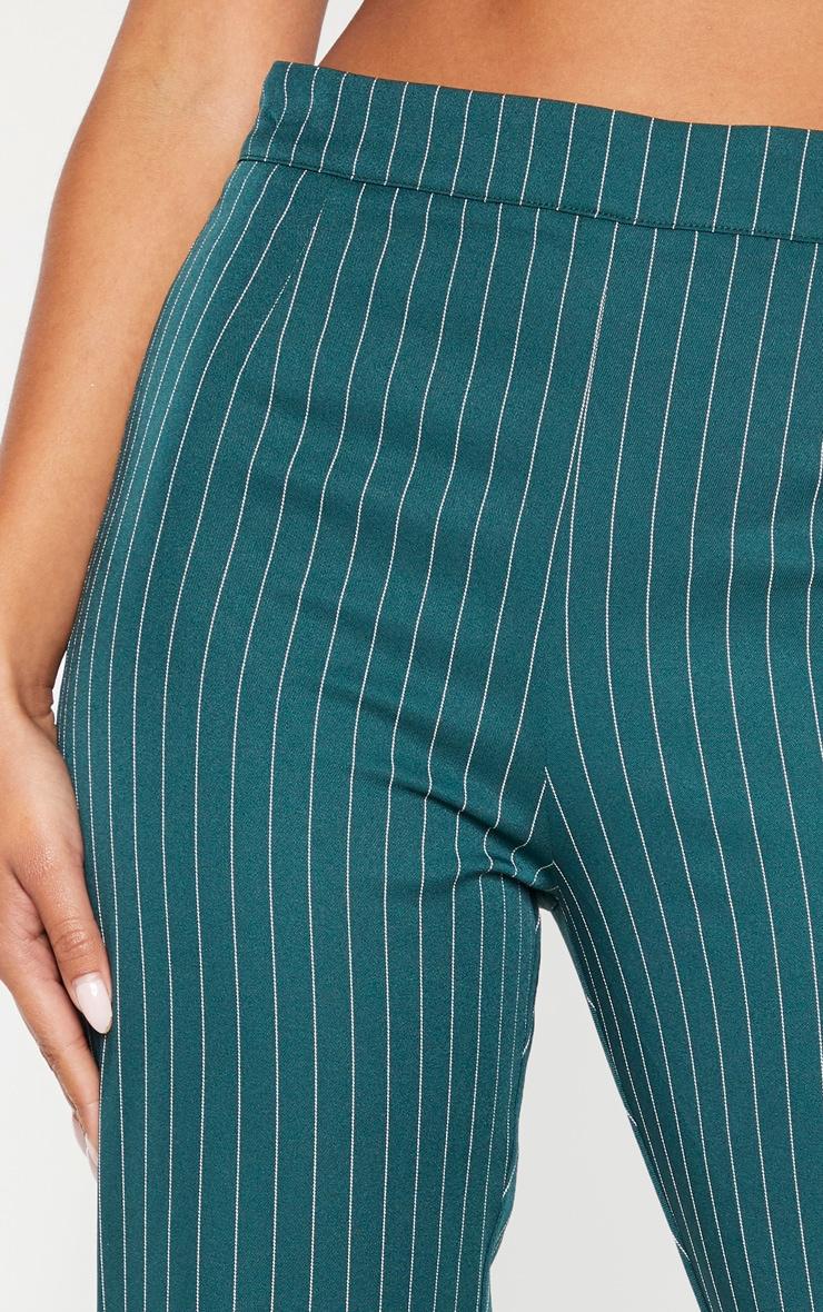 Jasper Green Pinstripe High Waisted Straight Leg Pants 5
