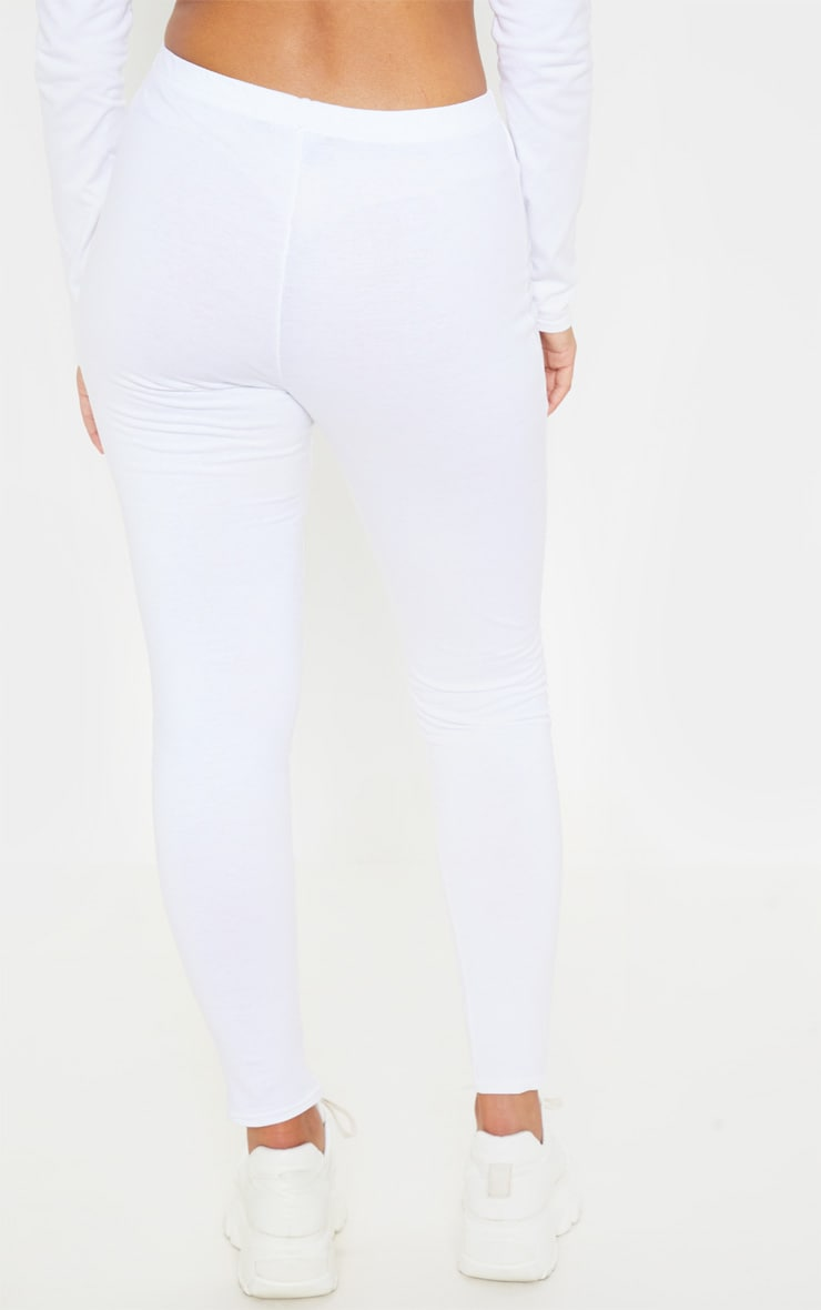 PRETTYLITTLETHING White Embroidered Leggings  4