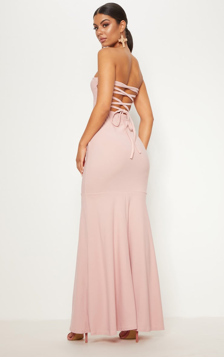 Dusty Pink Strappy Detail Maxi Dress 1