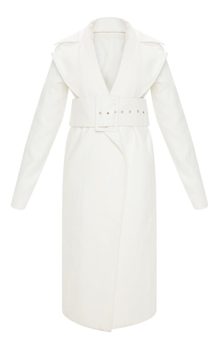 Petite - Manteau crème à ceinture 3