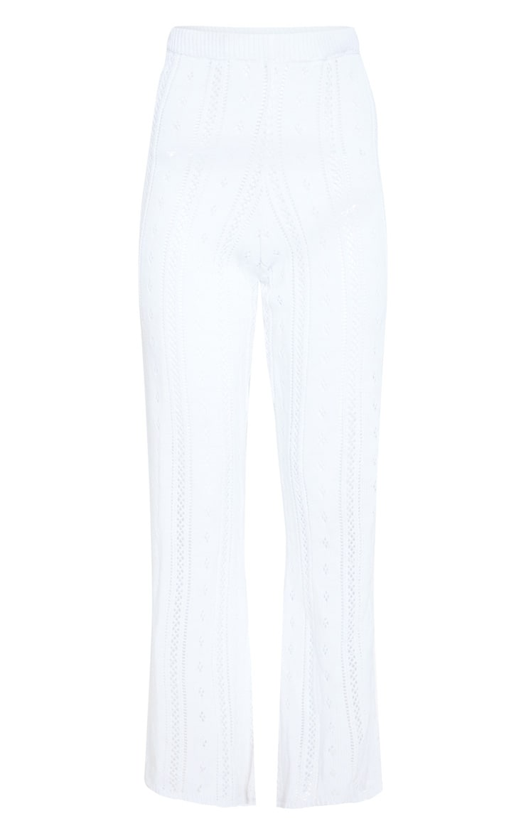 Cream Open Knitted Flares 3