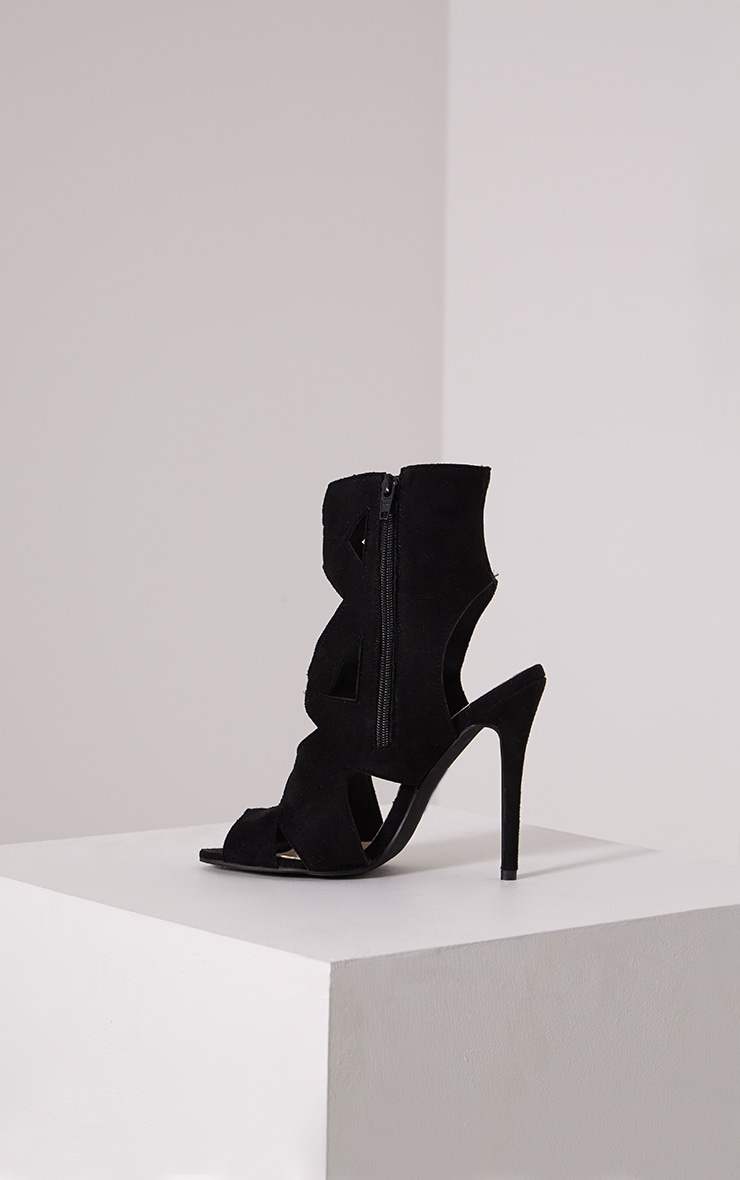 Sheree Black Cut Out Heeled Sandals 4