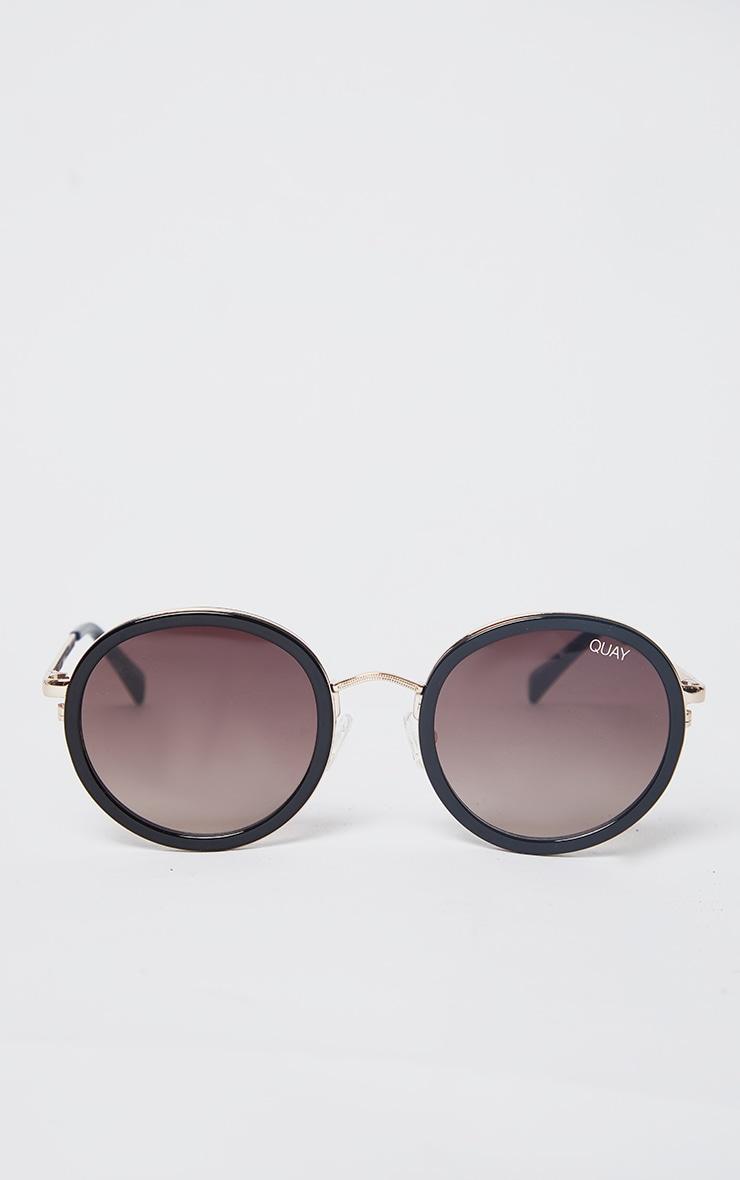 QUAY AUSTRALIA Black Aviator Firefly Sunglasses 2