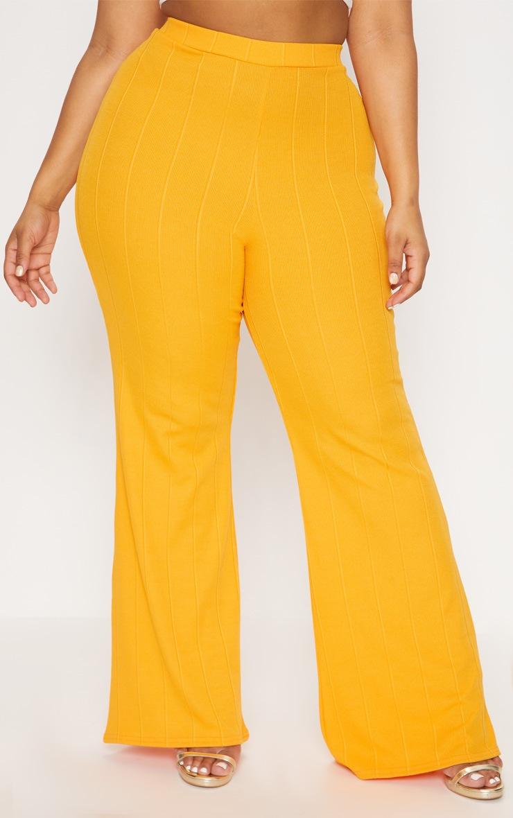 Plus Tangerine Bandage Wide Leg Trousers 2