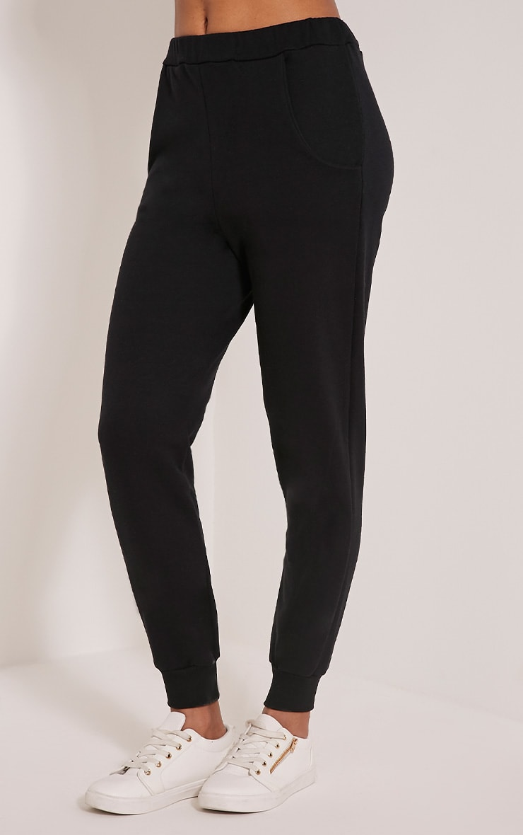 Ellia Black Basic Joggers 4