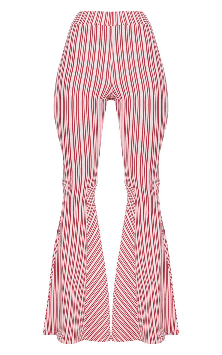 Red and White Stripe Extreme Flare Trouser 3