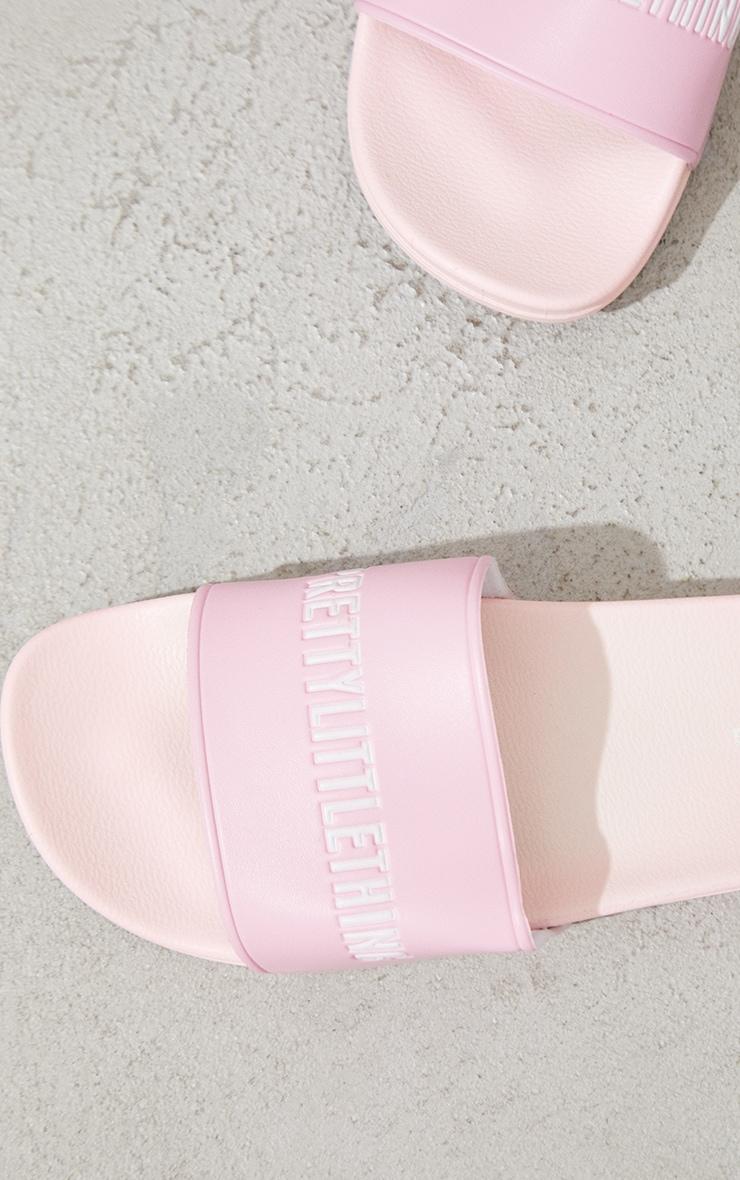 PRETTYLITTLETHING Pink PU Slides 4