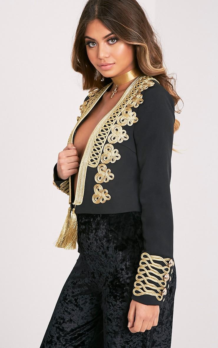 Cecilie Premium veste à ornements courte brodée noire 6