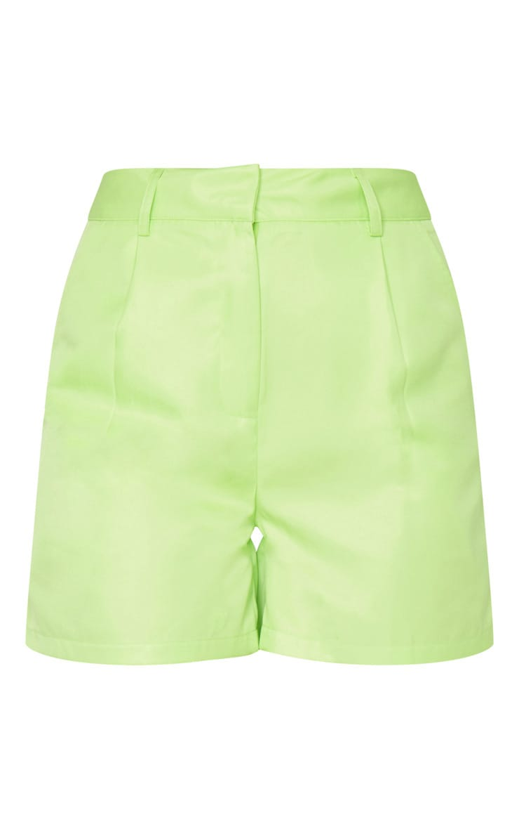 Lime Green Woven Tailored Short 6