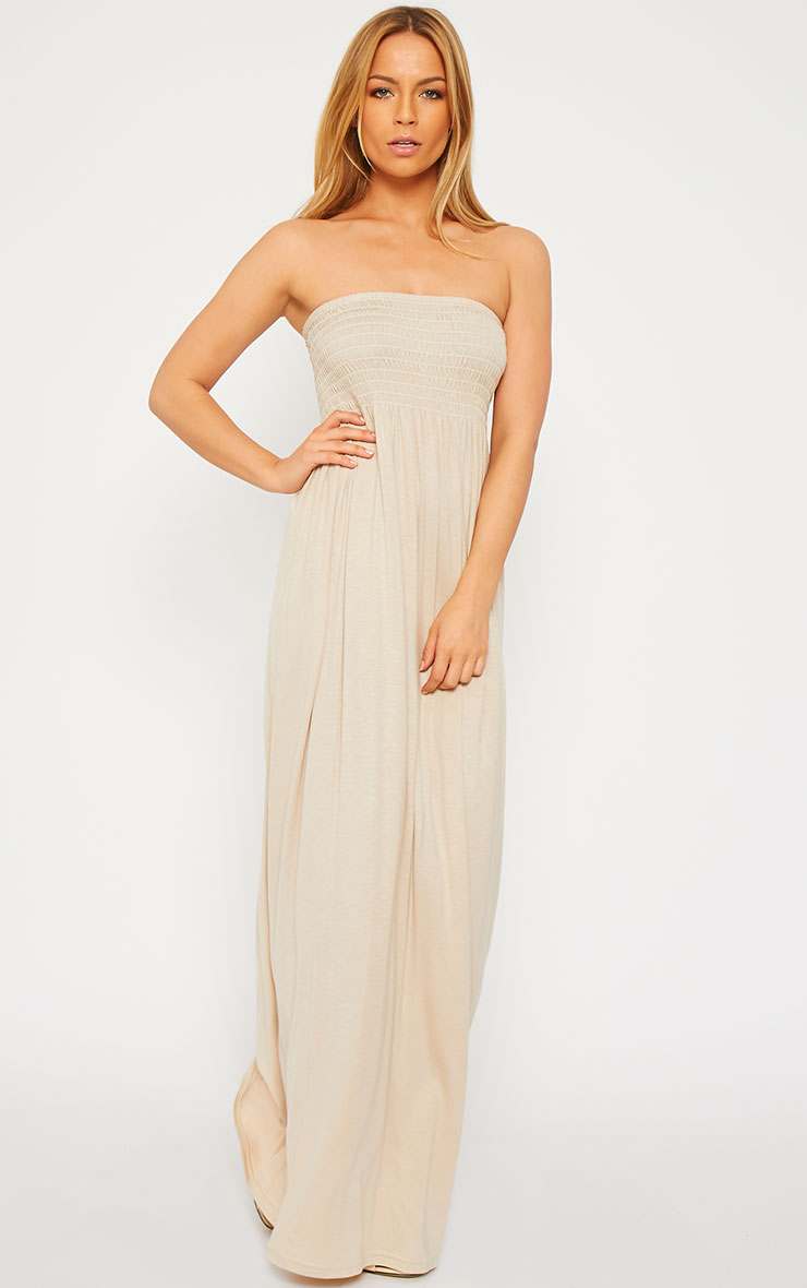 Tamara Stone Elasticated Bandeau Jersey Maxi Dress 1