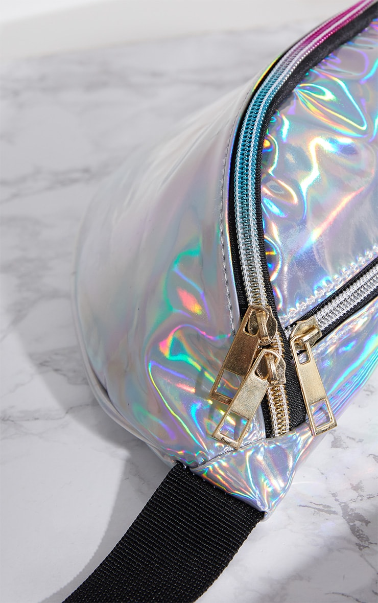 Plus Silver Holographic Bum Bag 4