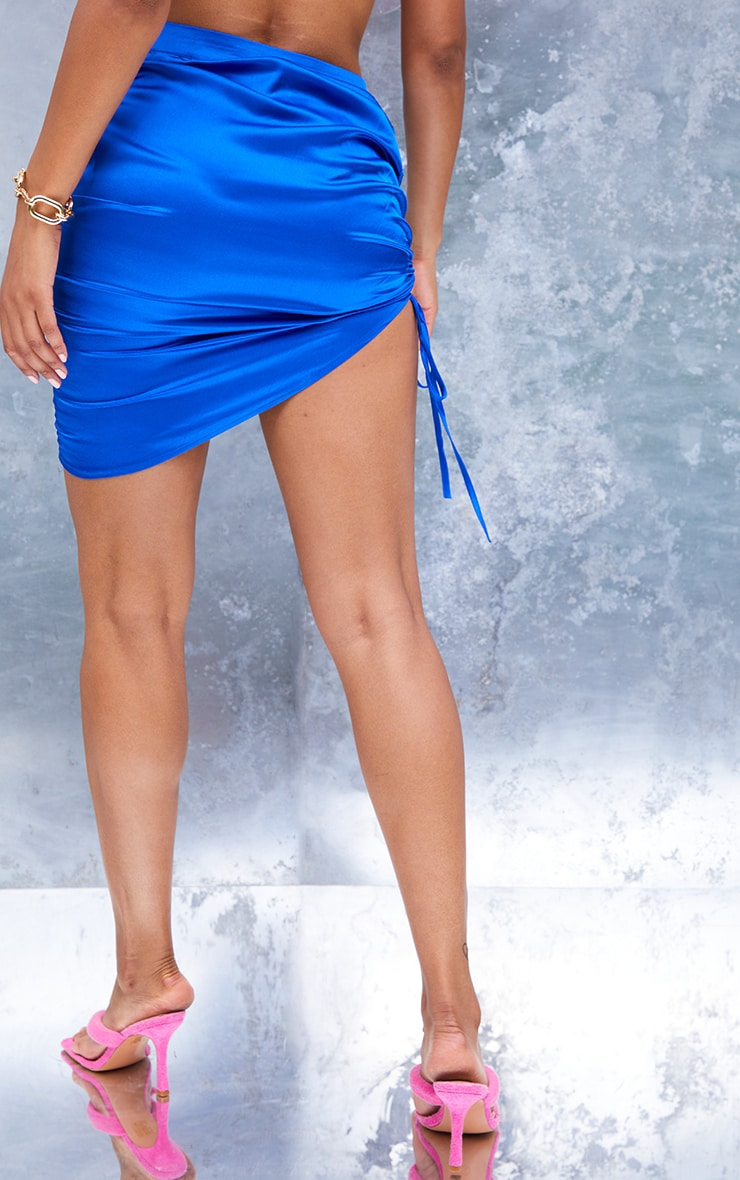 Cobalt Front Ruched Mini Skirt 3