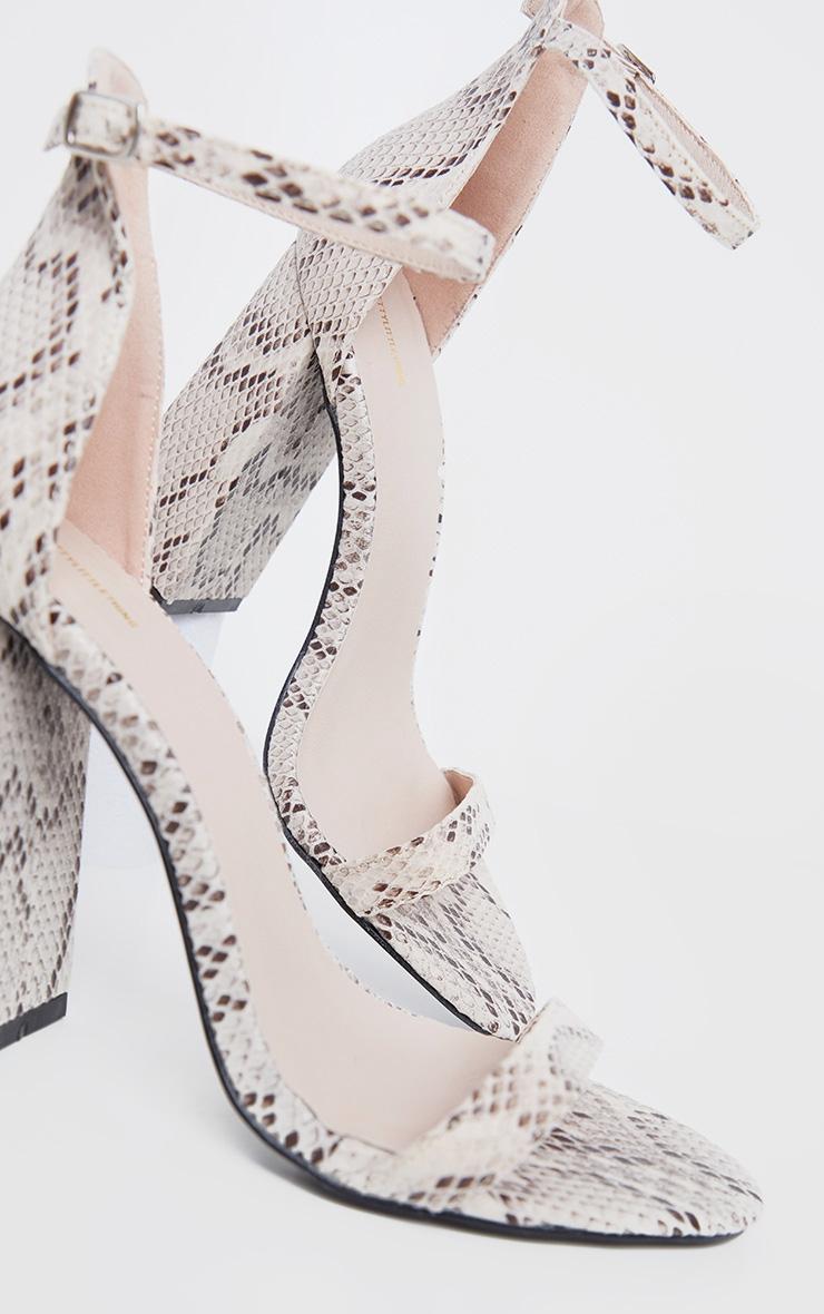 Snake High Block Heel Sandal 3