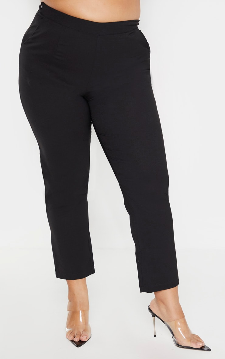 Plus Black Tailored Pants 2