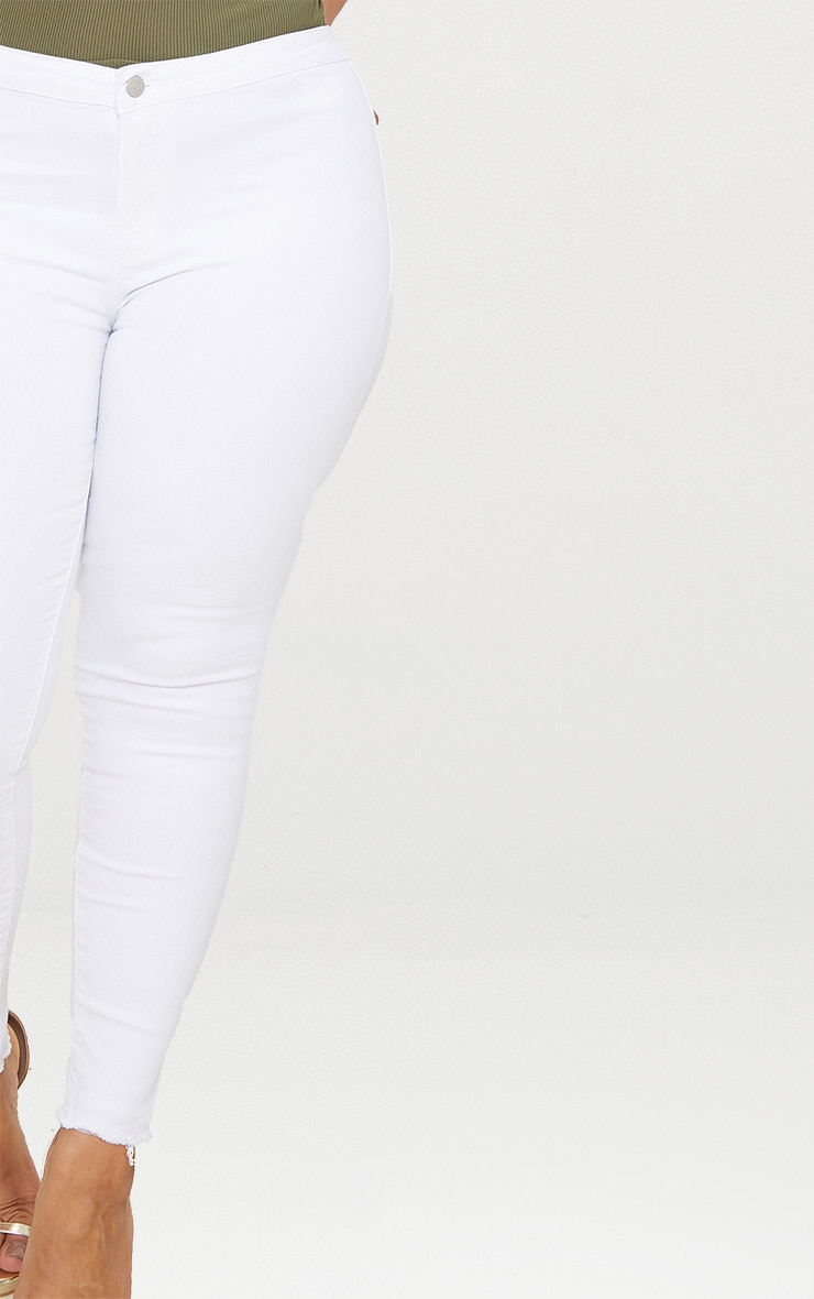 Plus White Disco Skinny Jeans 5