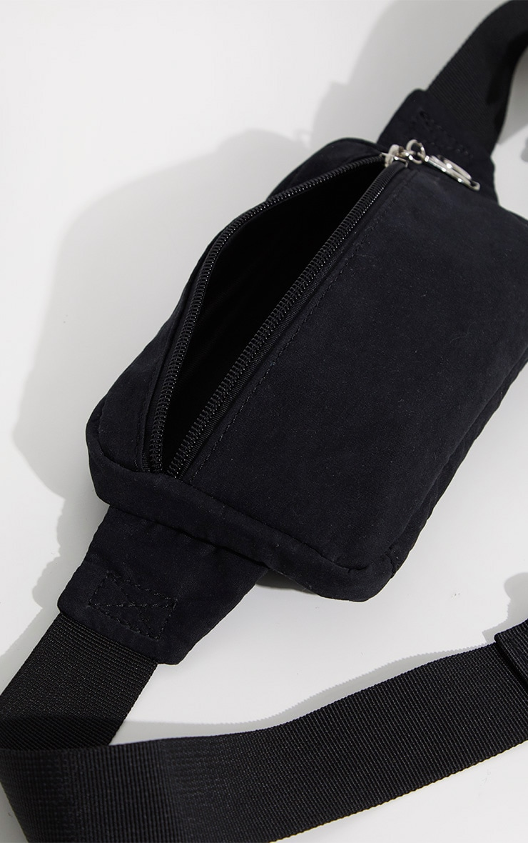 Black Soft Touch Bum Bag 4