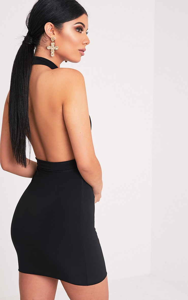 Marisa Black Cross Front Mini Dress 4