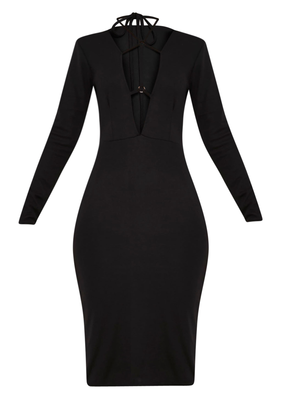 Rudi Black Harness Midi Dress 3